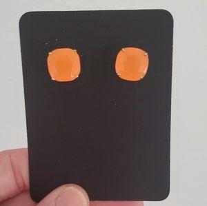 Kate Spade Neon Orange Stud Earrings
